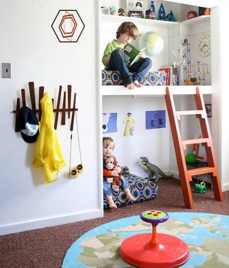 Habitaciones infantiles modernas - Habitaciones infantiles compartidas pequenas ...
