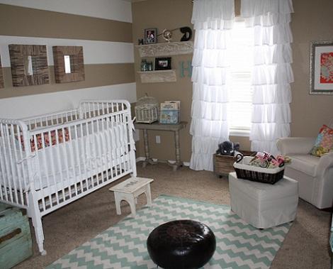 Habitaciones de beb ni o - Habitaciones pintadas con rayas ...