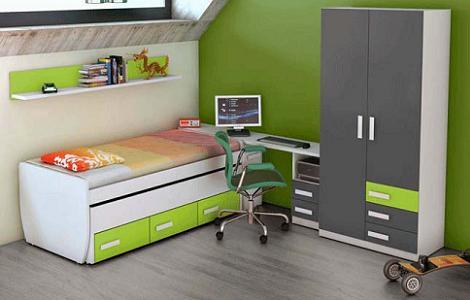 Dormitorios juveniles de merkamueble for Habitaciones juveniles muebles tuco