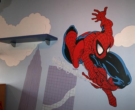 mural infantil spiderman