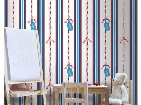 Papel pintado infantil a rayas