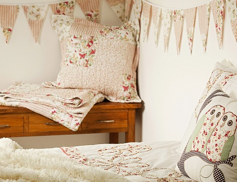 decoracion infantil primark buho patchwork