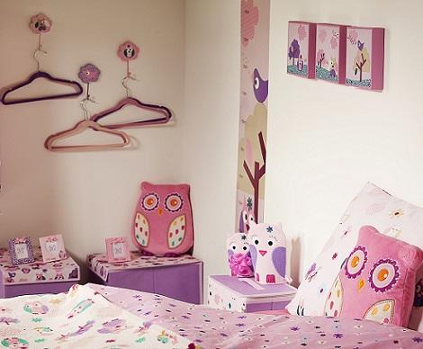 decoración infantil primark buho rosa