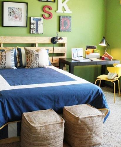 Dormitorio juvenil con palets