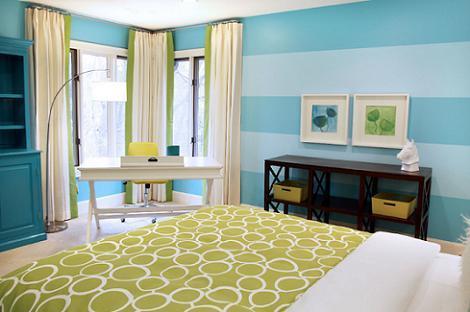 Dormitorio de rayas