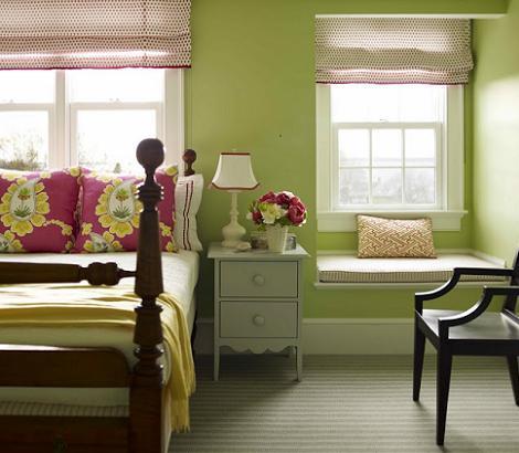 Habitación juvenil verde