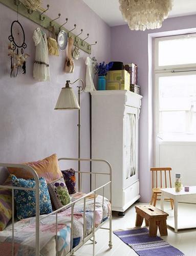 Habitación de niña lavanda