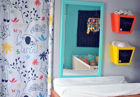 Dormitorio bebé turquesa
