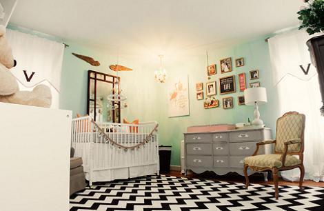 Dormitorio original de bebé