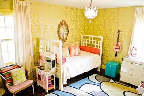 Habitación amarilla niña