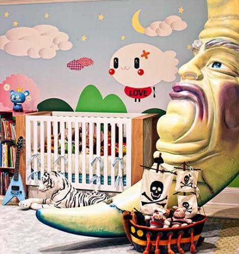 Habitación de bebé con decoración original