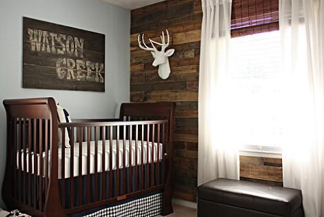 Habitación bebé estilo rústico