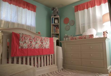 Habitación bebé niña turquesa