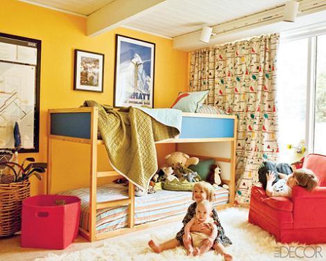 Habitación infantil amarilla