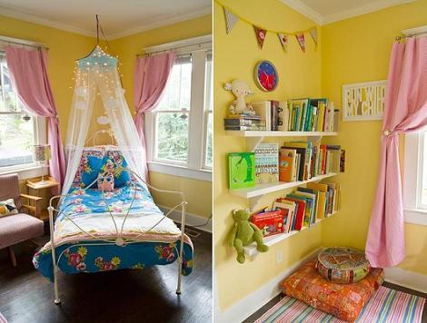 Habitación de princesa amarilla