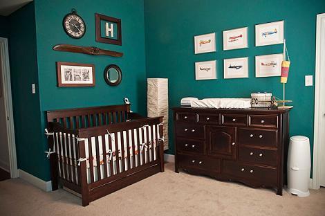 Habitación vintage marrón