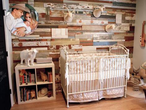 Habitaci n de beb r stica - Cunas rusticas para bebes ...
