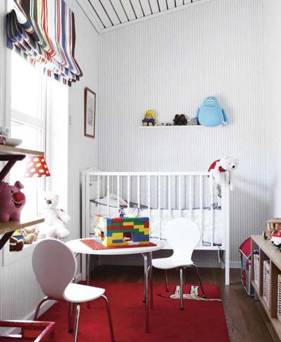Habitación de bebé reducida