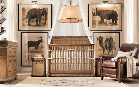 Habitación de bebé safari