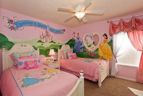 Habitación de princesas para niña