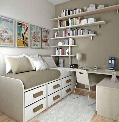 Fotos de habitaciones juveniles peque as - Dormitorio pequeno juvenil ...