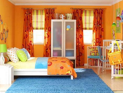 Habitaci n infantil naranja - Habitaciones color naranja ...
