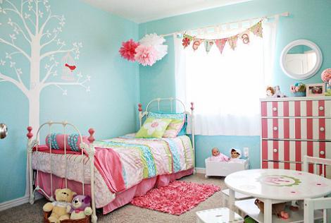 Habitaci n de ni a en azul for Cuarto de nina rosa palido