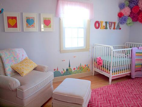 Dormitorio de beb ni a for Dormitorios bebe nina