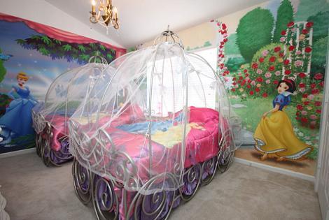 Dormitorio de princesas de Disney