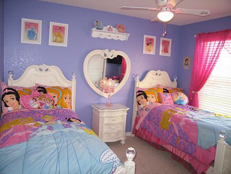 Habitaci n de princesas disney for Habitaciones infantiles disney