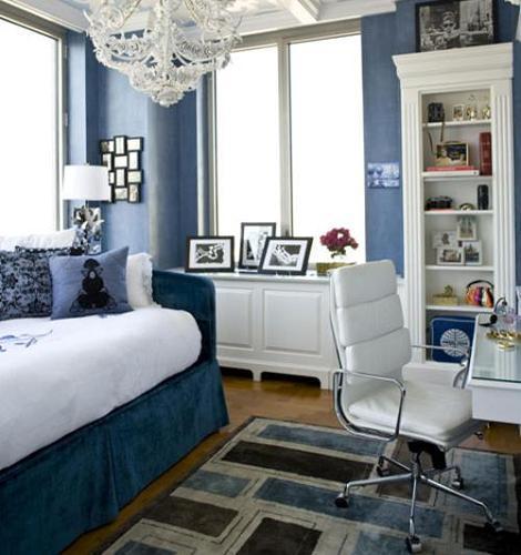 Habitación azul clásica