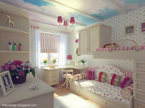 Techo habitación de niña