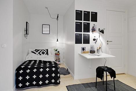 Habitación juvenil blanca