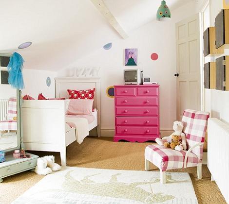 Habitación original de niña