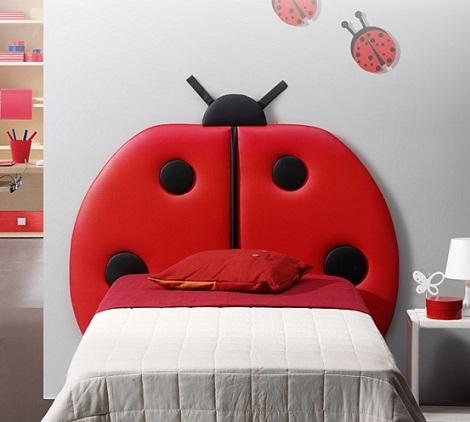cabeceros originales camas infantiles mariquita