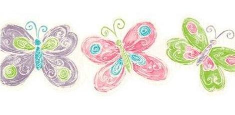 cenefas vinilo infantiles leroy merlin mariposas