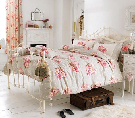 habitación juvenil vintage romántica
