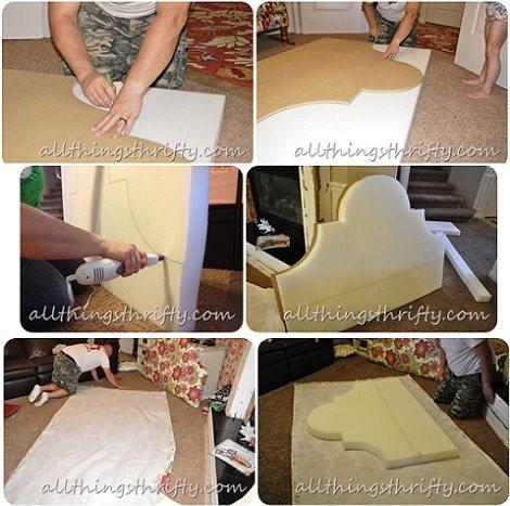 C mo hacer cabeceros tapizados en casa - Telas para tapizar cabeceros ...