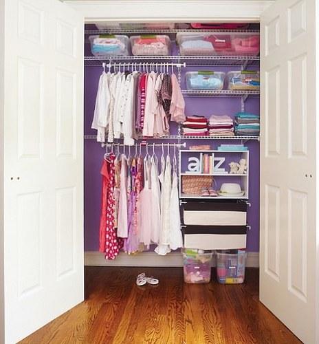 Ideas para hacer tu peque o vestidor infantil - Organizar armarios empotrados ...