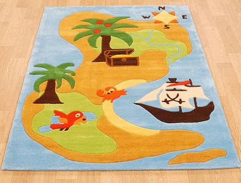 alfombras infantiles originales mapa pirata