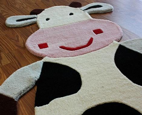 alfombras infantiles originales vaca