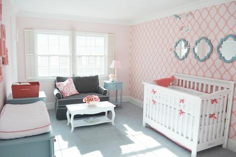 Dormitorio de bebé para niña