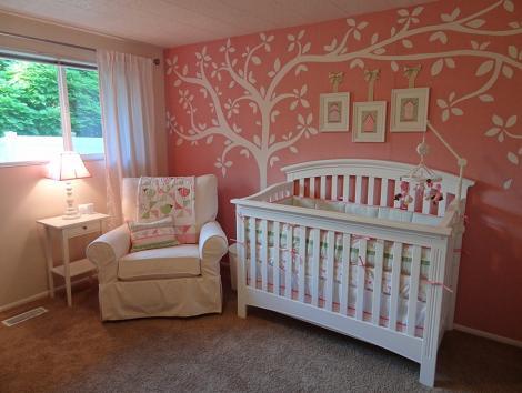 Habitacion femenina de bebé