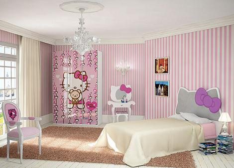 habitación infantil de hello kitty