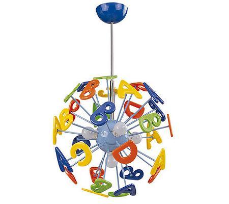 Lámpara infantil de letras