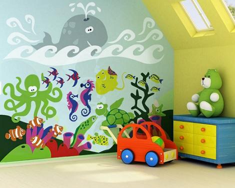 murales infantiles oceano