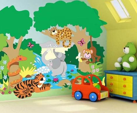 murales infantiles selva