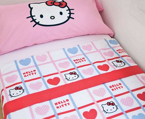 nordicos infantiles hello kitty corazones