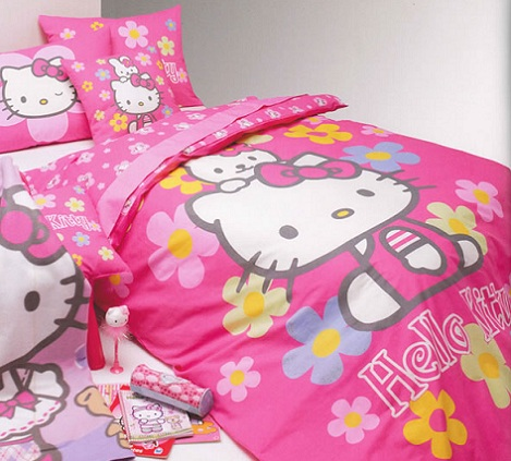 nordicos infantiles hello kitty flores