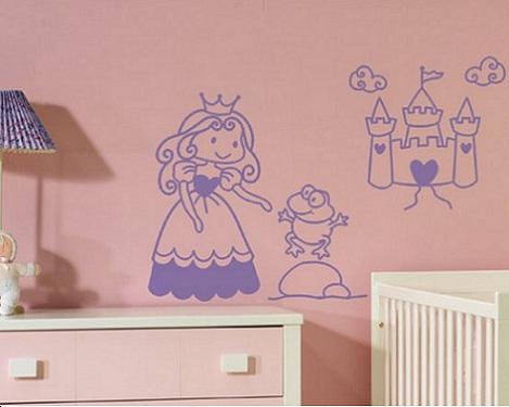 vinilos infantiles originales princesa